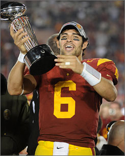 Mark Sanchez has an outstanding performance in the Rose Bowl to cap his career at Southern California.