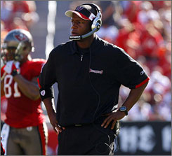 Raheem Morris was introduced Saturday as the new head coach of the Tampa Bay Buccaneers, one day after the team fired Jon Gruden.