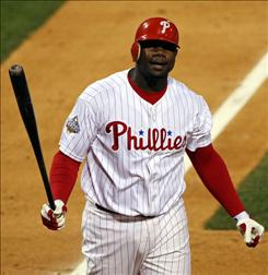 Philadelphia Phillies first baseman       Ryan Howard, who won $10 million arbitration award last year, could seek $16 million in arbitration this season. Tuesday is the day players exchange figures with their teams.