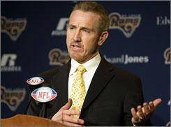 The Rams introduced Steve Spagnuolo as their head coach on Monday.