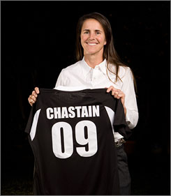The Women's Professional Soccer League's  Bay Area team, the FC Gold Pride, drafted former World Cup star Brandi Chastain.