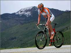 Floyd Landis, shown here on a charity ride in Colorado in 2007, is ready to return to competition.