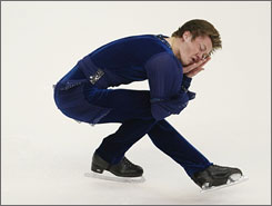 Jeremy Abbott competes in the men's short program during the U.S. Figure Skating Championships in Cleveland.