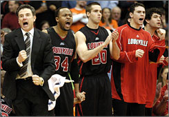 Rick Pitino's no-nonsense style seems to paying off for seventh-ranked Louisville, who is unbeaten in Big East play.