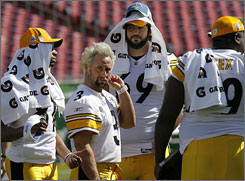 """You can't be an individualist, because if you are, you make yourself an outcast on the team,"" Steelers kicker Jeff Reed (3) says. ""You can hang out by yourself, hang out with the punter, holder, snappers, the trainers, the equipment guys, or you can just join right in."""