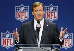 "NFL commissioner Roger Goodell had a stern warning about fans in the down economy for league officials. ""Can they continue to afford to go to an NFL game?"" Goodell asked."