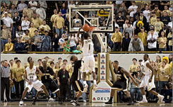 Georgia Tech's Iman Shumpert shoots the game-winning jumper as the Yellow Jackets upended No. 4 Wake Forest for their first ACC victory on the season.