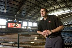 Derrick Hall, the Arizona Diamondbacks' new president and CEO, is focused on keeping fans coming to Chase Field despite a difficult economic climate.