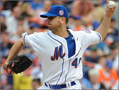 Oliver Perez turned in a 10-7 record in 34 starts with the Mets last season.