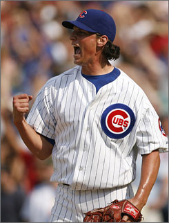 Jeff Samardzija was once better known to Chicago-area football fans as a Notre Dame wide receiver. In 2009 he might become the Cubs' fifth starter.