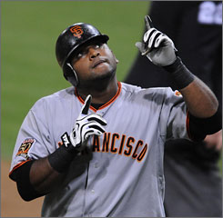 Pablo Sandoval is expected to get some time at catcher for the Giants in 2009.