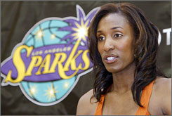 Lisa Leslie has averaged 17.4 points and 9.3 rebounds per game in 11 seasons, all with Los Angeles.