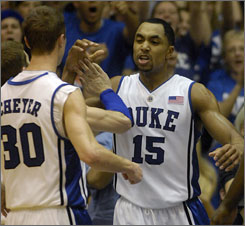 Gerald Henderson and No. 3 Duke rallied past Miami (Fla.) on Saturday to claim a 78-75 victory in overtime.