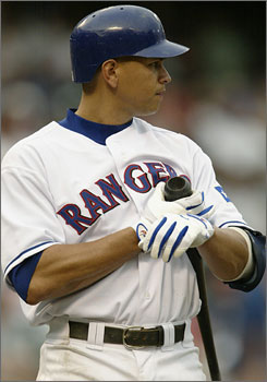 Alex Rodriguez is said to have tested positive for steroids in 2003 as a member of the Texas Rangers.