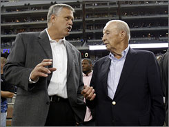 Lions owner William Clay Ford, right, has not spoken with reporters since firing Matt Millen in September.