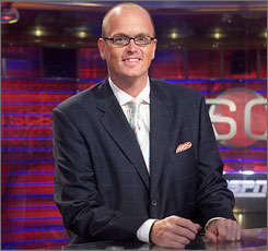 ESPN Radio's Scott Van Pelt was reportedly suspended because of remarks he made about the salary of Major League Baseball Commissioner Bud Selig.