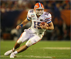 Networks, including CBS and ESPN, pay big money to show Tim Tebow and the Florida Gators football team on television.