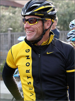 It looks as if Lance Armstrong's private project to document his vitals during this year's cycling season has been scrapped.