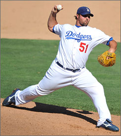 Dodgers hard-throwing reliever Jonathan Broxton could replace Takashi Saito as the closer, but he allowed 3.52 walks per inning in 2008.