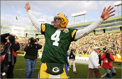 Brett Favre played 16 seasons in Green Bay before joining the Jets for the 2008 campaign.
