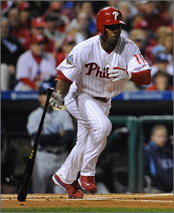 The Phillies' Jimmy Rollins will miss camp time to play in the World Baseball Classic. The tournament starts play on March 5.