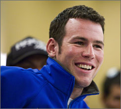 British cyclist Mark Cavendish of the Columbia-HighRoad team is just one of the world's premier cyclists in California for the race.