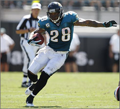 Fred Taylor ran for 11, 271 yards during his 11-year career with the Jaguars.