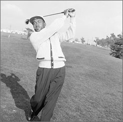 "Tiger Woods calls Charlie Sifford, above, ""The Jackie Robinson of our sport."" Sifford was the first African-American to earn a card on the PGA Tour."
