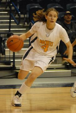 Freshman point guard Naama Shafir, the Toledo star believed to be the only Orthodox Jewish woman to receive an NCAA scholarship, drives to the basket.