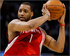 Tracy McGrady averaged 15.6 points and 5.0 assists per game this season in 35 games.