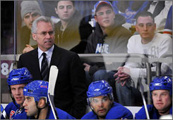 New York Rangers coach Tom Renney, fired on Monday, was a finalist for the Jack Adams Award in 2005-06.