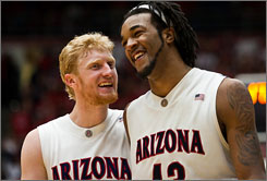 Along with point guard Nic Wise, Chase Budinger, left, and Jordan Hill have the Arizona Wildcats on the verge of their 25th straight trip to the NCAA tournament.