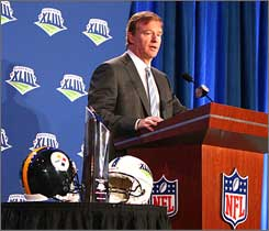 The NFL's cost-cutting measures include a slice of Roger Goodell's pay.