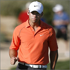 Paul Casey has led 79 of the 80 holes he has played at the Accenture Match Play Championship and is trying to become the event's first champion to never trail in a match the entire week.