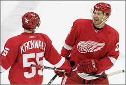 Brad Stuart arrived on trade deadline day last year and helped the Red Wings win a Stanley Cup.