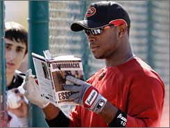Diamondbacks outfielder Justin Upton hit .250 with 15 homers and 42 RBI last year. Only 21, Upton is poised to make a jump in performance this season.