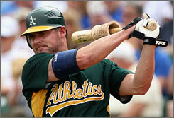 Jason Giambi is back with the Athletics, for whom he played his first seven big-league seasons. He spent the last seven seasons with the Yankees, encountering plenty of turbulence.