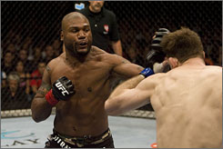 """Quinton """"Rampage"""" Jackson punches Forrest Griffin in their UFC light heavyweight fight last year in Las Vegas. Jackson is a top draw, UFC President Dana White says."""