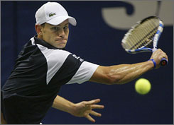Andy Roddick, playing at the SAP Open in San Jose on Feb. 12, hopes to lead the USA to a Davis Cup win vs. Switzerland in Birmingham, Ala.