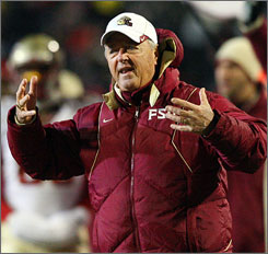 Florida State's Bobby Bowden, second in Division I in football victories, could lose some wins with NCAA sanctions.
