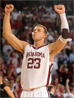 Blake Griffin may join Oklahoma quarterback Sam Bradford as a national player-of-the-year award winner, giving the Sooners a sweep of top individual honors in basketball and football in the same academic year.