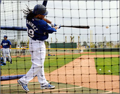 Manny Ramirez has wasted no time getting into the swing of things at the Dodgers' spring training facility. Ramirez's presence in the lineup will definitely provide a boost to his teammates' fantasy numbers for the upcoming season.