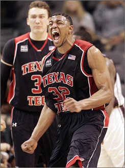 Texas Tech's Mike Singletary scored 43 points to help the Red Raiders overcome a 21-point deficit against Texas A&M, the largest in Big 12 tournament history.