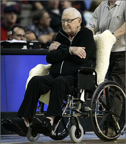 Detroit Pistons managing partner William Davidson is shown at an NBA game in Auburn Hills, Mich. Davidson, the Detroit Pistons owner, businessman and philanthropist, passed away on Friday at the age of 86.
