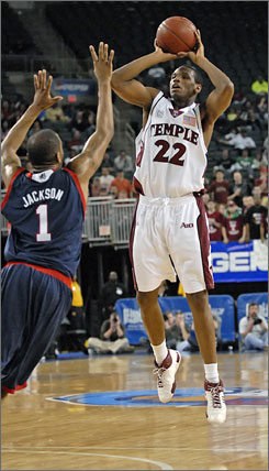 Temple's Dionte Christmas scored 29 points to help the Owls earn their second consecutive NCAA tournament bid.