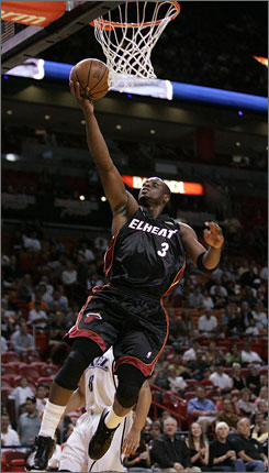 Dwyane Wade scored 50 points against the Utah Jazz on his way to becoming the all-time leading scorer in Miam Heat franchise history. He surpassed Alonzo Mourning.