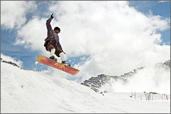 """Bengals linebacker Dhani Jones snowboards in Switzerland on """"Dhani Tackles the Globe,"""" which premieres March 16."""