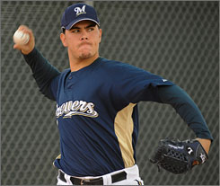 Milwaukee Brewers reliever Eduardo Morlan, 23, was one of 21 selections in the annual Rule 5 draft at last year's winter meetings. He spent the 2008 season in the Tampa Bay Rays organization.