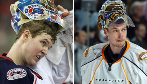 Rookie goalies Steve Mason and Pekka Rinne have their teams in playoff contention.