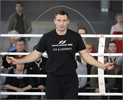 Vitali Klitschko will put his World Boxing Council belt on the line Saturday in Stuttgart, Germany.